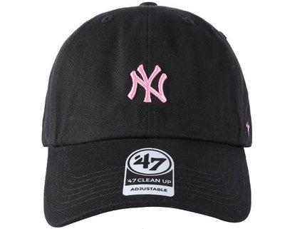 [SREY帽屋]預購*47 Brand CLEAN UP MLB 紐約洋基 小LOGO 黑底粉字 美國限定 棒球帽 老帽