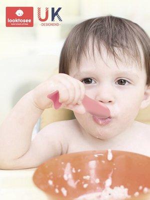 hello小店-寶寶學習吃飯訓練叉勺彎頭歪頭把嬰兒童輔食碗餐具套裝#防撞條#安全鎖#防夾手#