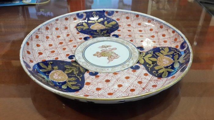 阿國的收藏˙˙清代˙青花鎏金礬紅彩盤