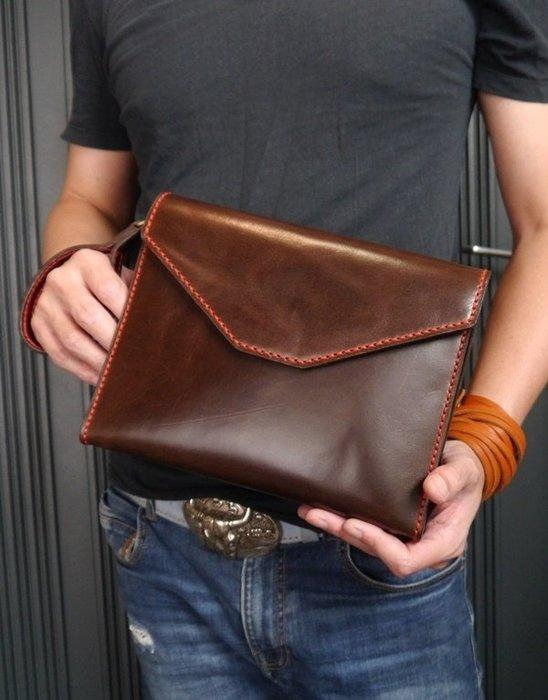 KH手工皮革工作室 MIT全牛皮訂製 皮革手拿包 長夾證件手機可用 可拆式手拿帶 內外皆皮革製作專人手工縫製配色自選