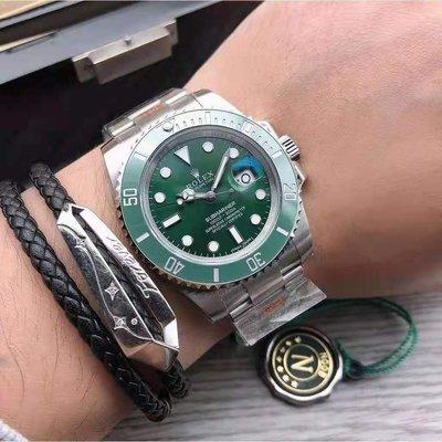 歐美代購代購 最新款水鬼 潛航者經典款41mm 機械綠水鬼 黑水鬼 藍水鬼勞力士男士腕錶 時尚休閒手錶 超亮夜光手錶