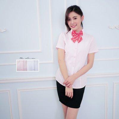 OL制服公司學校/隱形素條紋 女孩短袖襯衫《SEZOO襯衫殿 高雄店家》018011706