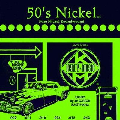 ☆ 唐尼樂器︵☆ Kerly 50's Nickel 系列冰火弦 KMPN-0942 (09-42) 美製純鎳電吉他弦