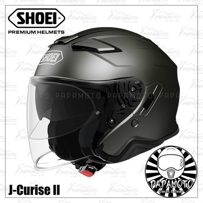 【趴趴騎士】SHOEI J-Cruise 2 - 鐵灰 鈦色 3/4 安全帽 (內墨片 JCruise2
