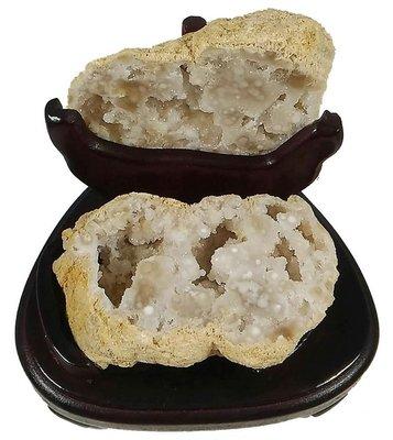 摩洛哥 白水晶 聚寶盆 水晶洞 晶洞 315g 許願石 招財