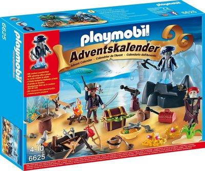 【摩摩小屋】會發亮 德國製 Playmobil #6625 海盜 耶誕降臨曆 ADVENT CALENDAR 聖誕降臨曆