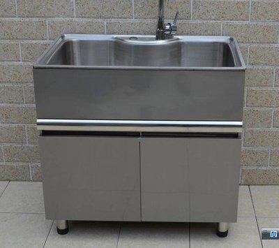 【yapin小舖】不鏽鋼洗衣槽.洗衣櫃.洗雜物槽.不鏽鋼櫃體.面板.陽台洗衣槽.拖布盆80公分