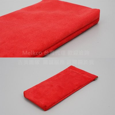 GooMea 2免運 Moto E5 Plus 6吋 彈片開口雙層絨布袋手機袋 紅色 保護袋絨布套手機套保護套