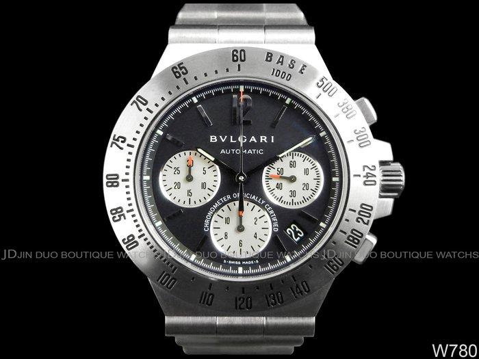 金鐸精品~W780 BVLGARI 寶格麗 Diagono professional 自動上鍊計時男錶