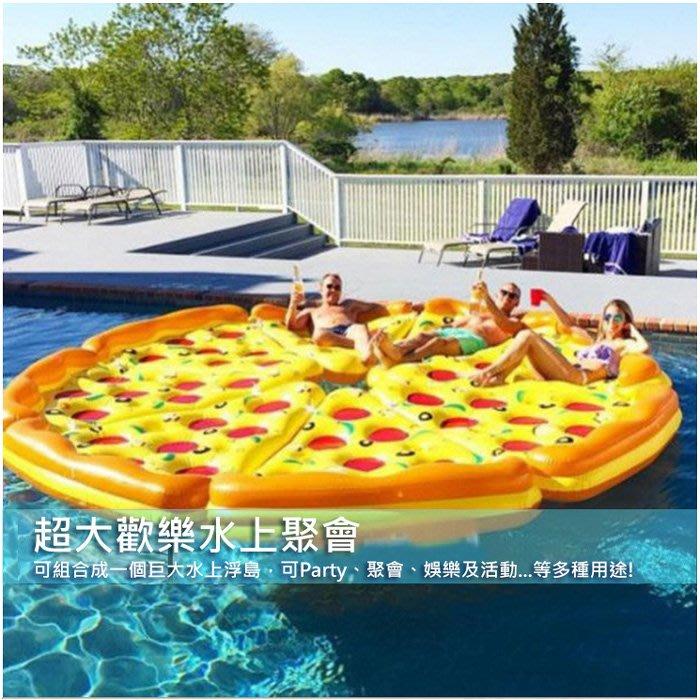 快速出貨【現貨】水上充氣浮床加厚披薩浮排泳池戲水 游泳浮床   彩虹天馬/獨角獸 充氣披薩 漂浮日光浴