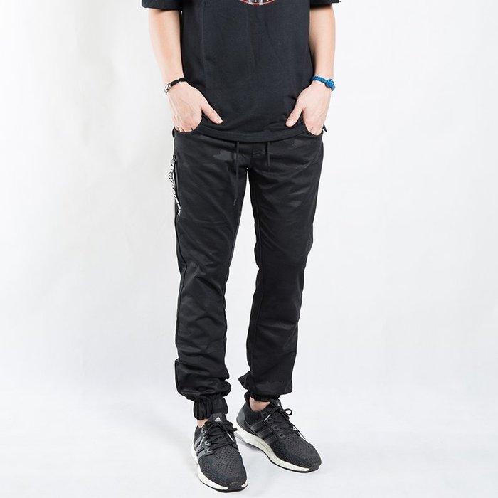 【Random】【黑迷彩縮口長褲】黑 迷彩 縮口褲 抽繩  M-XL