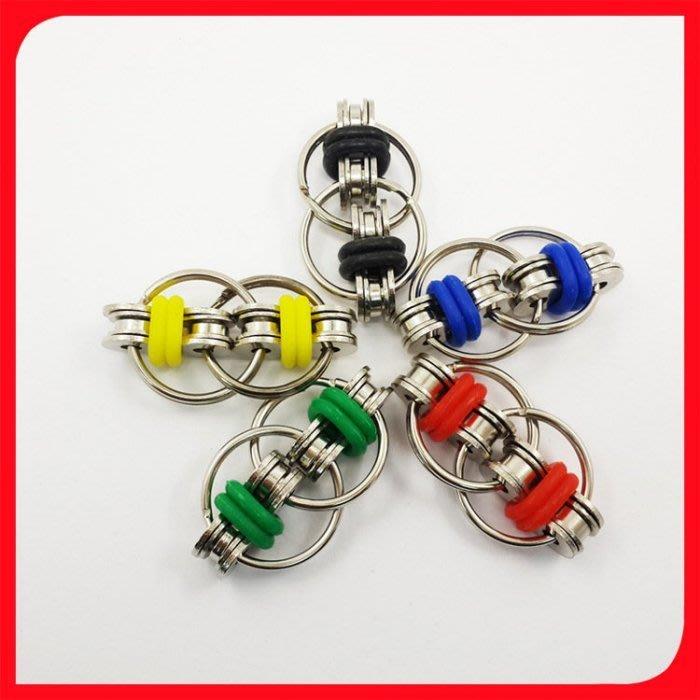 現貨指尖陀螺減壓鏈條 減壓金輪 指尖鏈條指尖陀螺減壓鏈條指尖鑰匙扣減壓玩具 Keyhand spinner Fidget