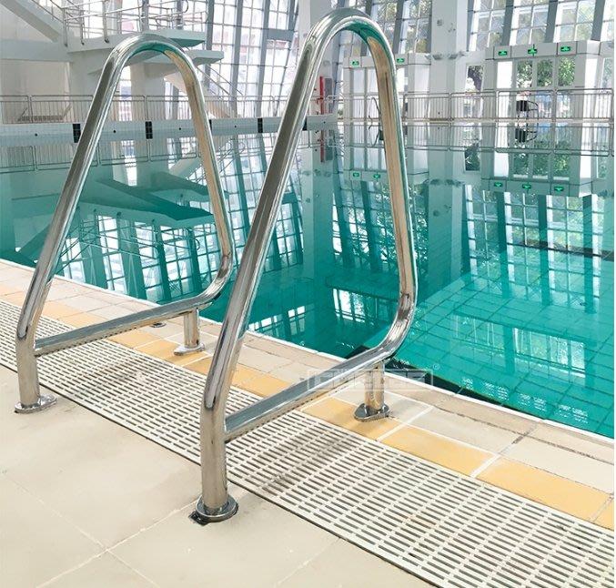 《宇煌機台》溫泉浴池扶手水療池扶梯游泳池扶手304不銹鋼扶梯下水梯