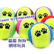 🎀Evercare4u 寵物用品 狗狗 貓貓 網球 腳印圖案 玩具 磨牙 耐咬 寵物 玩具