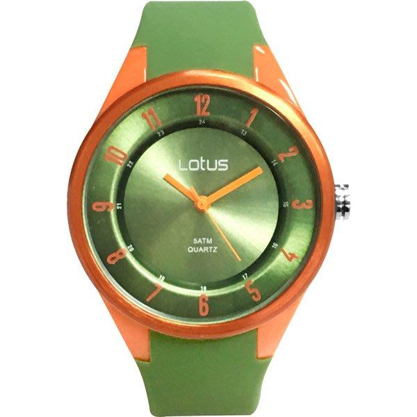 Lotus 亮麗立體指針休閒錶(TP2117M-04)-橄欖綠/39mm