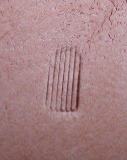 老約翰 皮雕 B60B 直紋小 鋼製  精細手工鑄造 頂級材料印花工具 皮雕工具