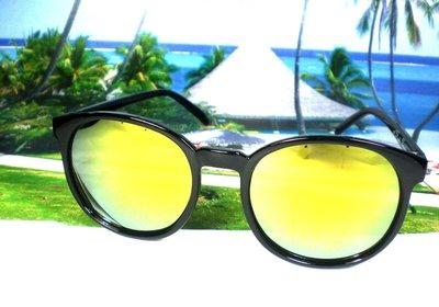天王星  太陽眼鏡  系列圓框 日韓影星廣告款 追星族 雜誌首推 男女適~ 價120~19 黃水銀面
