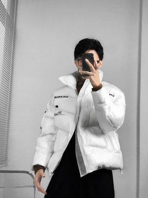 歐韓貨龍叨叨白色亮透棉衣棉服2021年新款男潮牌潮流冬季加厚冬季短款