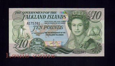 【Louis Coins】B043-Falkland Islands-1986福克蘭群島紙鈔.Elizabeth II