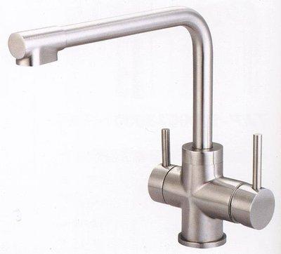 《日成》TAP【不銹鋼.無鉛】廚房龍頭.立式.三用龍頭.含淨水器出口 TAP-506018