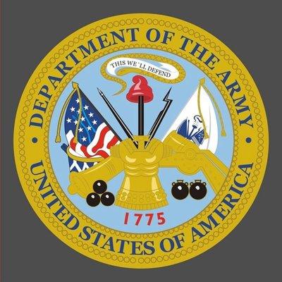 美國陸軍部 貼紙 United States Department of The ARMY