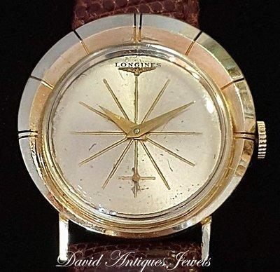 ((天堂鳥)) LONGINES 浪琴不對稱運行外殼小三針手上鍊錶/特殊造型款