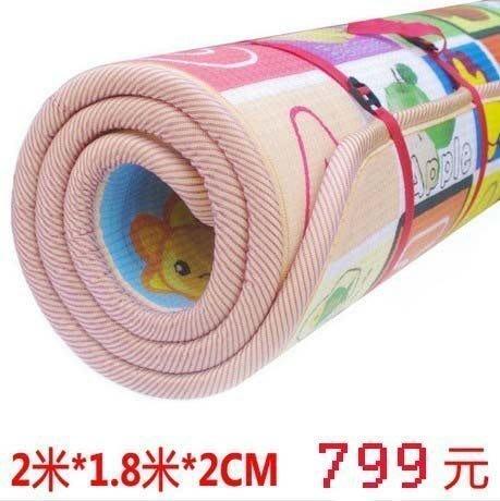 【易發生活館】嬰兒爬行墊加厚2CM寶寶地墊 環保兒童爬爬墊 韓國雙面特價遊戲墊遊戲床