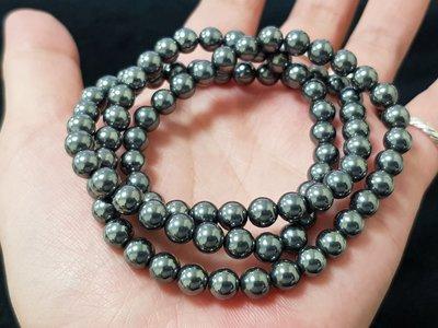 鈦赫茲能量三圈手珠項鍊約6mm