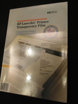 全新 HP LaserJet Printer Transparency Film  直購價!!