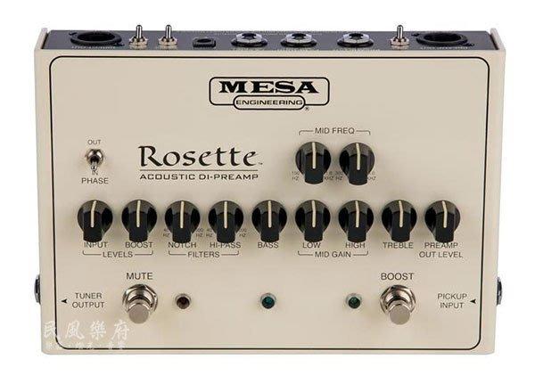 《民風樂府》美國手工製 Mesa/Boogie ROSETTE DI-Preamp 木吉他DI-前級踏板 效果器