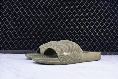 D-BOX  NIKE BENASSI SOLARSOFT SLIDE 簡約 涼鞋 拖鞋 舒適 軍綠色