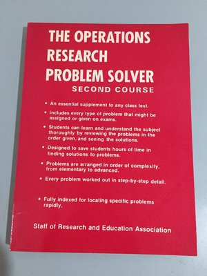F2-4《好書321KB》The Operations Research Problem Solver /大專用書
