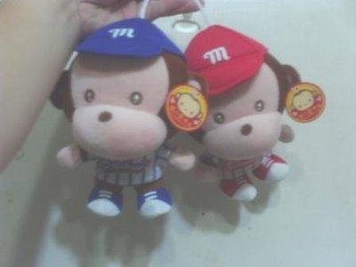 全新可愛棒球裝猴子玩偶一紅色