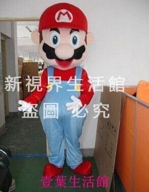 【新視界生活館】超級瑪麗卡通服裝卡通道具服裝卡通人偶服裝瑪麗奧4747{XSJ304021340}