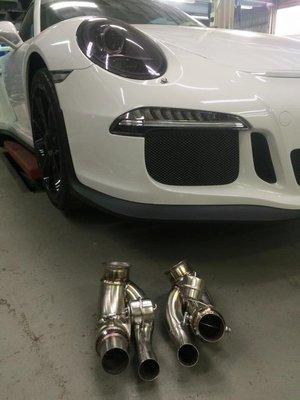 Porsche 991 GT3 中段排氣管含可變閥門