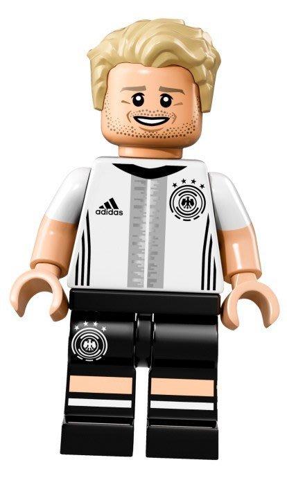 【LEGO 樂高】益智玩具 積木/ DFB 德國足球隊 人偶系列 71014 | 單一人偶:Schürrle 背號:9號
