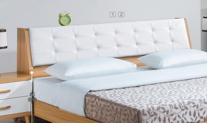 【DH】貨號E589-3名稱《寶格麗》6尺床頭箱(圖一)皮革靠背.可掀置物.備有5尺可選 台灣製可訂做.主要地區免運費
