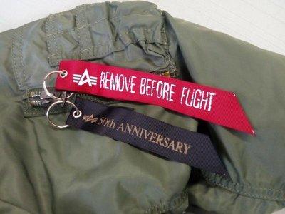 50th週年【紅&黑】限量雙飄帶紀念款全新美國ALPHA INDUSTRIES專櫃正品MA1 MA-1飛行夾克外套 M號