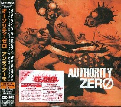 K - Authority Zero - Andiamo- 日版 CD+2BONUS - NEW