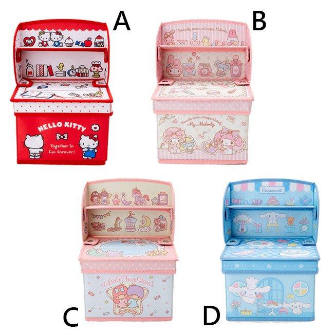 收納箱 三麗鷗 Hello Kitty 美樂蒂 雙子星 大耳狗 摺疊 組合 收納 層架 置物箱 正版日本進口授權