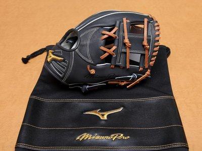 2016 日本製 美津濃 MIZUNO PRO ORDER 硬式 坂本勇人 坂本型 耕作 內野手 工字 棒球 手套 黑色
