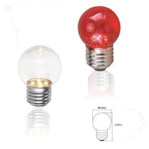 當天寄【燈聚】舞光 LED燈泡 神明燈 小夜燈 E27 0.4W LED省電燈泡 小紅燈 球燈泡 取代5W鎢絲 暖白光