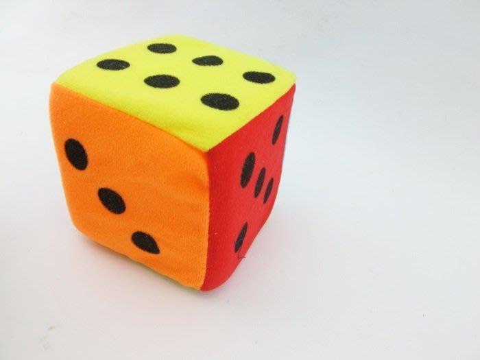 【阿LIN】902048 0648-16D 6吋海綿鈴鐺骰子 色子 布製 安全 15cm 絨布骰子 手眼協調 遊戲 教學