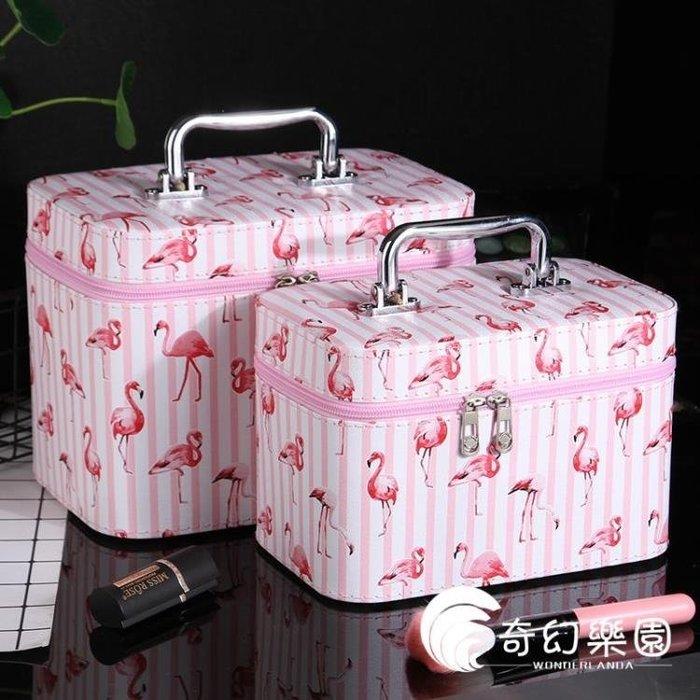 化妝包小號便攜專業大容量可愛少女心化妝箱簡約旅行防水收納包