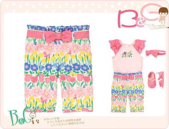 【B& G童裝】正品美國進口GYMBOREE 裝飾蝴蝶結花朵圖樣長褲6-12-18mos