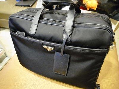 Prada 公事包 黑色 筆電 手提側背 托特 保卡 生日禮物 肩背 上班