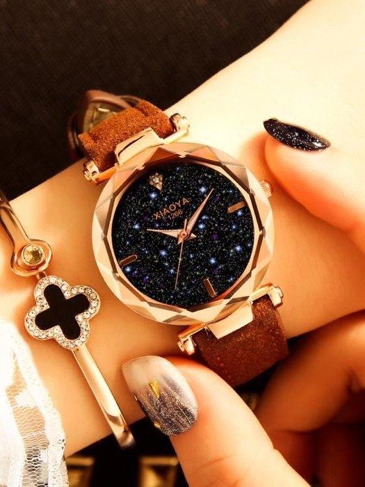 女士手錶防水時尚2018新款韓版簡約休閒大氣復古中學生皮帶石英錶