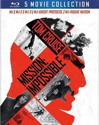 BD 全新美版【不可能的任務 1 2 3 4 5】【Mission Impossible 1~5】Blu-ray 藍光