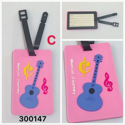 3個$60!Music ukulele Guitar 結他 吉他 行李牌 名牌 luggage Tag 八達通 octopus case name card