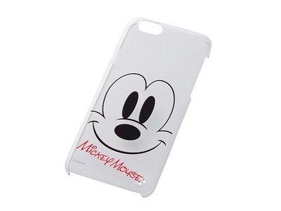尼德斯Nydus~* 日本 迪士尼 米老鼠 米奇 Mickey 硬殼 手機殼 透明 大臉款 4.7吋 iPhone6